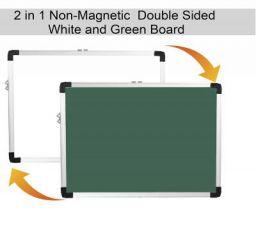 HelloPerfect White Board (White & Green, 1 x 1.5 Feet)