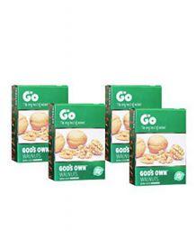 Go Organic Extra Light Broken Walnut Kernels- Pack of 4 Each 250gm