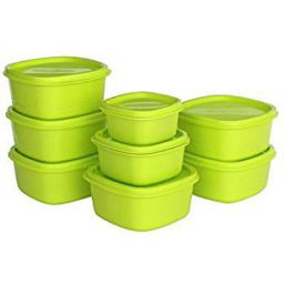 Princeware Plastic Storage Container (Set of 8 Pieces)