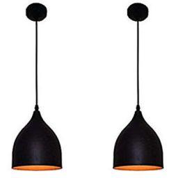 WhiteRay Round Black Hanging light