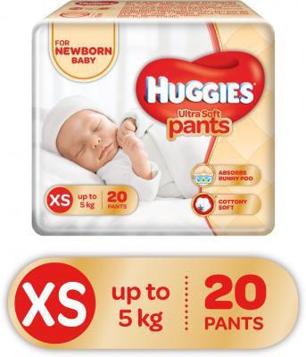 Huggies Ultra Soft XS Size Diaper Pants - XS - Buy  20 Huggies Air Fresh Material Pant Diapers for babies