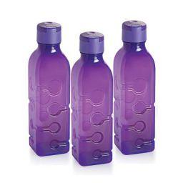 Cello Tango Polypropylene Bottle Set, 600ml, Set of 3, Purple