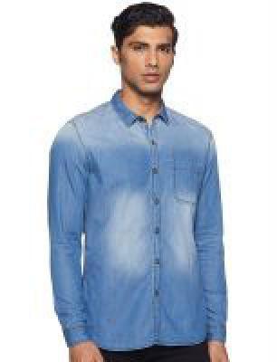 Numero Uno Mens Solid Slim Fit Casual Shirt