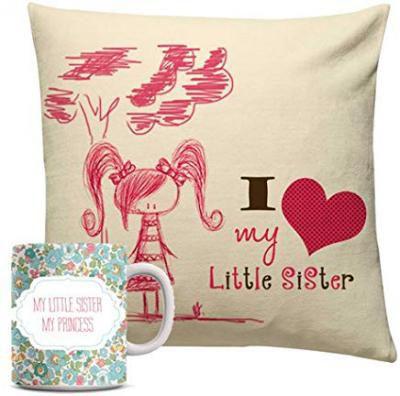 Rakhi Gifts - Cushion and Mug combo