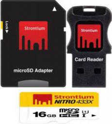 Strontium Nitro 16 GB SDHC Class 10 Memory Card  (With Adapter)