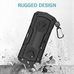 ZAAP Hydra Xtreme Waterproof/Shockproof Bluetooth Speaker with Built-in Microphone (Black)