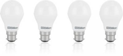 Billion 9 W Round B22 LED Bulb (White, Pack of 4)