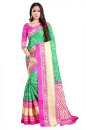 J B Fashion Cotton Saree with Blouse Piece