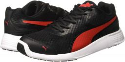Puma Men FST Runner Idp Black and Flame Scarlet Sneakers-10 UK/India