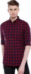 Dennis Lingo Men Checkered Casual Multicolor Shirt