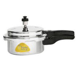 Srushti Gold Aluminium Pressure Cooker - Outer Lid, 2 L