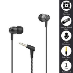 boAt BassHeads 162 Wired Earphones with Dual Tone Braided Cable, in-line Mic and HD Sound