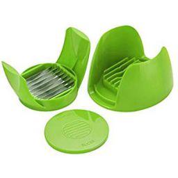 Amiraj Unbreakable Plastic Tomato Slicer, Green
