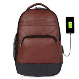 Fur Jaden Anti Theft Zipper 15.6 Inch Water resistant Laptop Backpack With Usb Charging Port