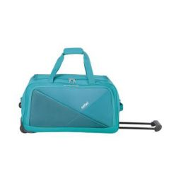 Safari Pret 59 Cms Polyester Teal Check-In 2 Wheels Soft Duffle