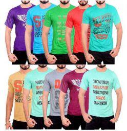 Devil Men Cotton T-Shirt (Pack of 10)
