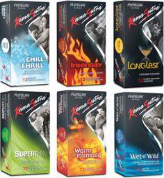 KamaSutra Pleasure Series Condom  (Set of 6, 72S)