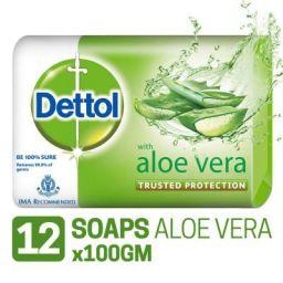 Dettol Soap - 100 g (Pack of 12, Aloe Vera)