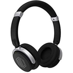Nu Republic Nu Funx Wireless Headphones with Mic (Black and Silver)