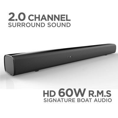 Boat AAVANTE BAR 1100, 2.0 Channel Sound, 60W R.M.S, Multimedia Soundbar