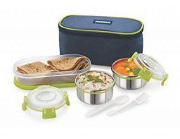 3 Container Stainless Steel Lunch Box | Leak Proof