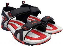 Lotto Tore Men Black, Grey Sports Sandals