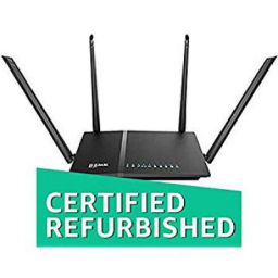 D-Link DIR-825 AC 1200 Wi-Fi Dual-Band Gigabit (LAN/WAN) Router (Renewed)