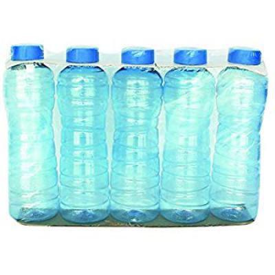 Princeware Plastic Pet Bottles Set, 975ml/79mm, Set of 5, Blue