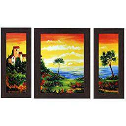 Wens 'Palm Trees on Beach' Wall Art (MDF, 30 cm x 34 cm x 1.5 cm, WSP-4260)