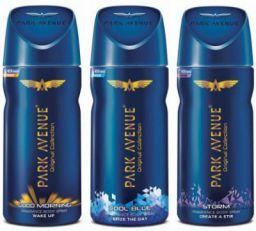 Park Avenue Good Morning , Cool Blue & Storm Deodorant Spray - For Men (450 ml, Pack of 3)