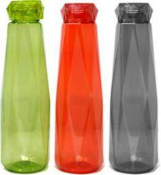 Flipkart SmartBuy Diamond Cut Pet 3Pcs Water Bottles 1200 ml Bottle  (Pack of 3, Multicolor)