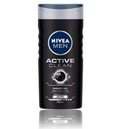 NIVEA MEN Hair, Face & Body Wash, Active Clean Shower Gel, 250ml