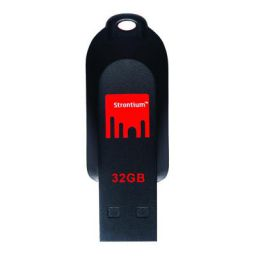 Strontium 32GB Pollex USB Flash Drive (Red/Black)
