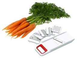 Kuber Industries Plastic 6 in 1 Multi Purpose Vegetable Slicer Grater (Multicolour, CTKTC01757)