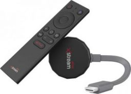 Airtel Xstream Smart Stick HP2707 Media Streaming Device  (Black, Grey)