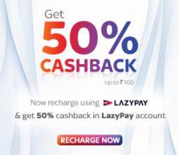 TataSky : 50% Cashback up to Rs.100