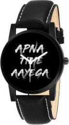 Apna TIME Aayega Lover Black Sporty Printed Dial Boys And Girls Analog Watch - For Men & Women