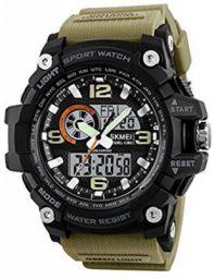 F-SKMEI1283 Skmei Military Series Analogue Digital Black Dial Watch for Men. Analog-Digital Watch - For Men