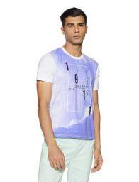 Fila Men's Printed Regular Fit T-Shirt