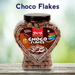 Percy Breakfast Cereal, Choco Flakes, Jumbo Jar [Wholegrain and High Fibre Chocos Milk Cereal] Jar, 400 g