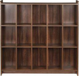 Woodness Engineered Wood Open Book Shelf