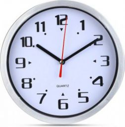 ADONAI Analog 3 cm X 20 cm Wall Clock  (White, With Glass)