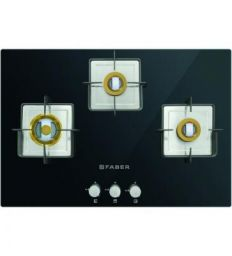 Faber 3 Brass Burners Automatic Glass Hob