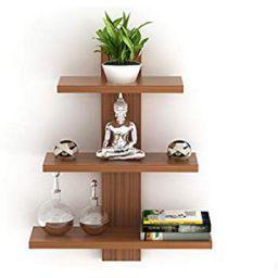 Bluewud Phelix Wall Decor Book Shelf/Wall Display Rack (3 Shelves)