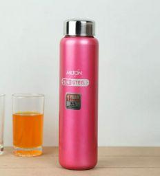 Milton Aqua 930 ML Pink Stainless Steel Fridge Water Bottle