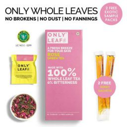 Only Leaf Rose Green Tea, 27 Tea Bags