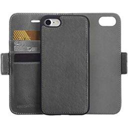 AmazonBasics iPhone 8/7 PU Leather Wallet Detachable Mobile Cover