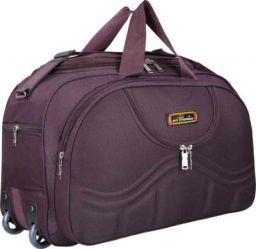 Inte Enterprises 22 inch/55 cm (Expandable) gala purple duffel trolley bag Duffel Strolley Bag