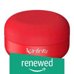 (Renewed) Infinity (JBL) Fuze Pint Dual EQ Deep Bass Portable Wireless Speaker (Passion Red)
