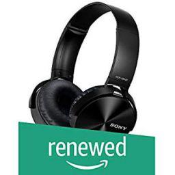 (Renewed) Sony MDR-XB450 On-Ear Extra Bass Headphones (Black)